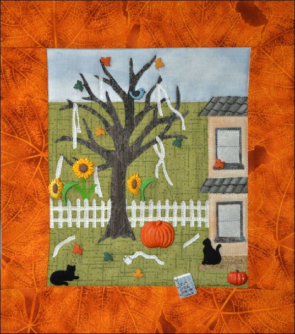 Autumn Antics Button Quilt Pattern by Mouse Blankets