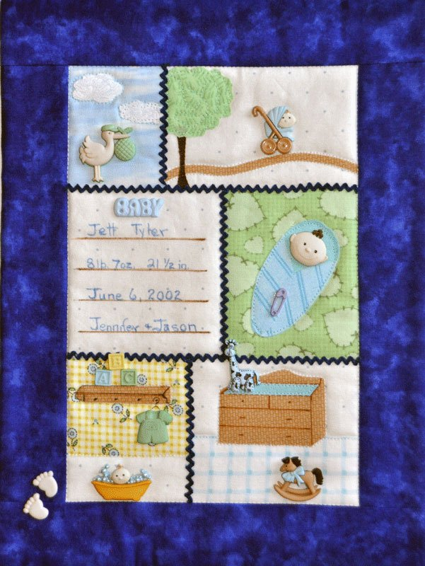 Baby Boy Button Quilt With Buttons by Mouse Blankets