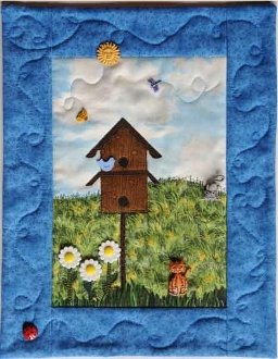 Bird Watching Button Quilt Pattern and Buttons by Mouse Blankets