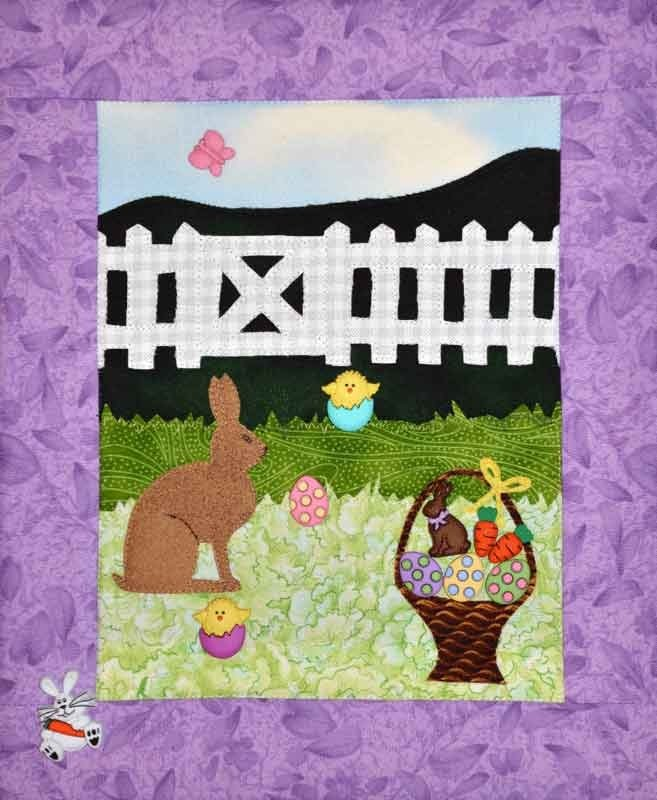 Easter Morning Quilt Pattern With Buttons by Mouse Blankets