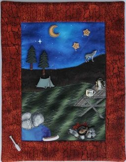 Evening Camp Button Quilt Pattern With Buttons by Mouse Blankets