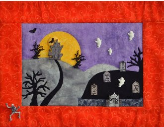 Haunted Hill Button Quilt Pattern by Mouse Blankets