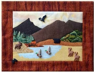 Hunting Button Quilt Pattern With Buttons by Mouse Blankets