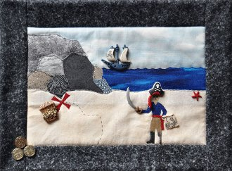 Pirate's Cove Applique Button Quilt Pattern With Buttons by Mous