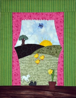 Spring Window Button Quilt Pattern With Buttons by Mouse Blankets