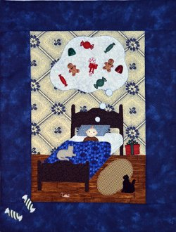 Visions of Sugarplums  Quilt Pattern With Buttons by Mouse Blankets
