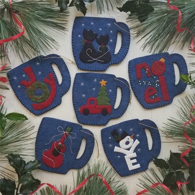 Merry Mugs Ornament Pattern by Rachel's of Greenfield