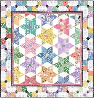 Diamond Stars Quilt Pattern by Morning Glory Designs