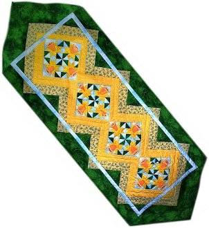March Daffodils Tablerunner Pattern by Morning Glory Designs