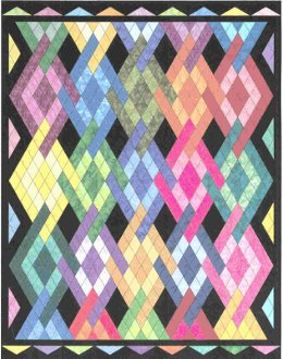 Peggy's Diamonds Quilt Pattern by Morning Glory Designs