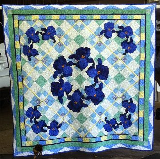 Summer Iris Quilt Pattern by Morning Glory Designs