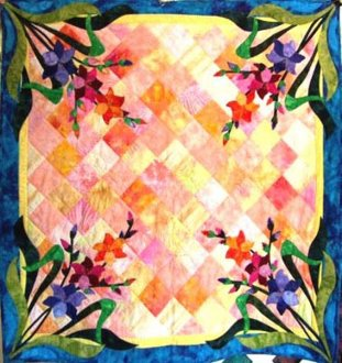 August Gladiola Table Runner Pattern by Morning Glory Designs