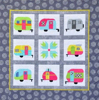Camper Party Wallhanging Pattern by MH Designs