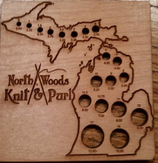 United States State Shaped Wooden Needle Gauges by Katrinkles