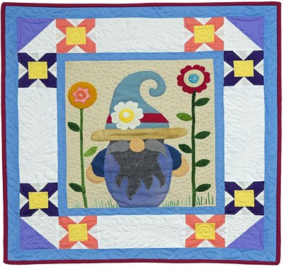 Mikel the Gnome May Block from the Gnomio Quilt EPattern by Charisma Horton