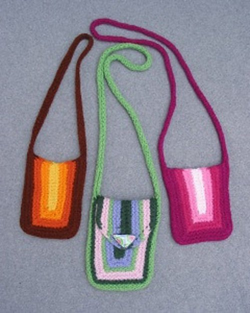 Mini/Maxi -Mitre Bags Knitting Pattern 871 by Lucy Neatby