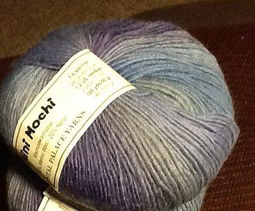 Mini Mochi Yarn by Crystal Palace Color 314 Multi Purple Blue