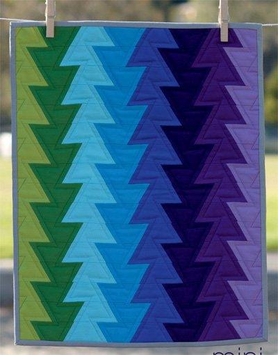 Mini Northern Lights Quilt Pattern