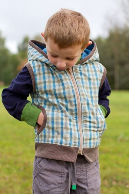 Little Hero Vest Pattern by Make It Perfect