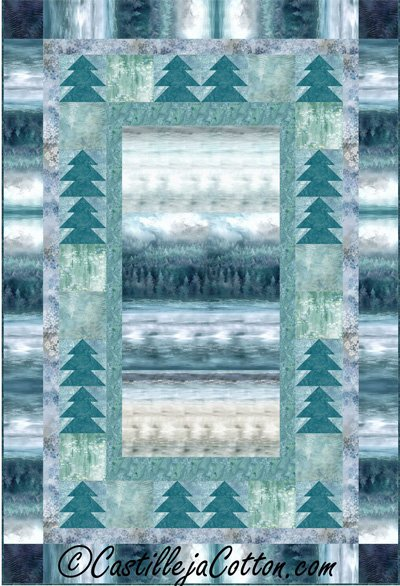 Misty Forest II Quilt Epattern by Castilleja Cotton