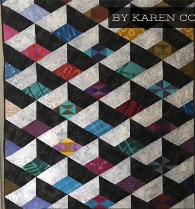 Modern Attic Window Quilt Pattern by Karen Combs