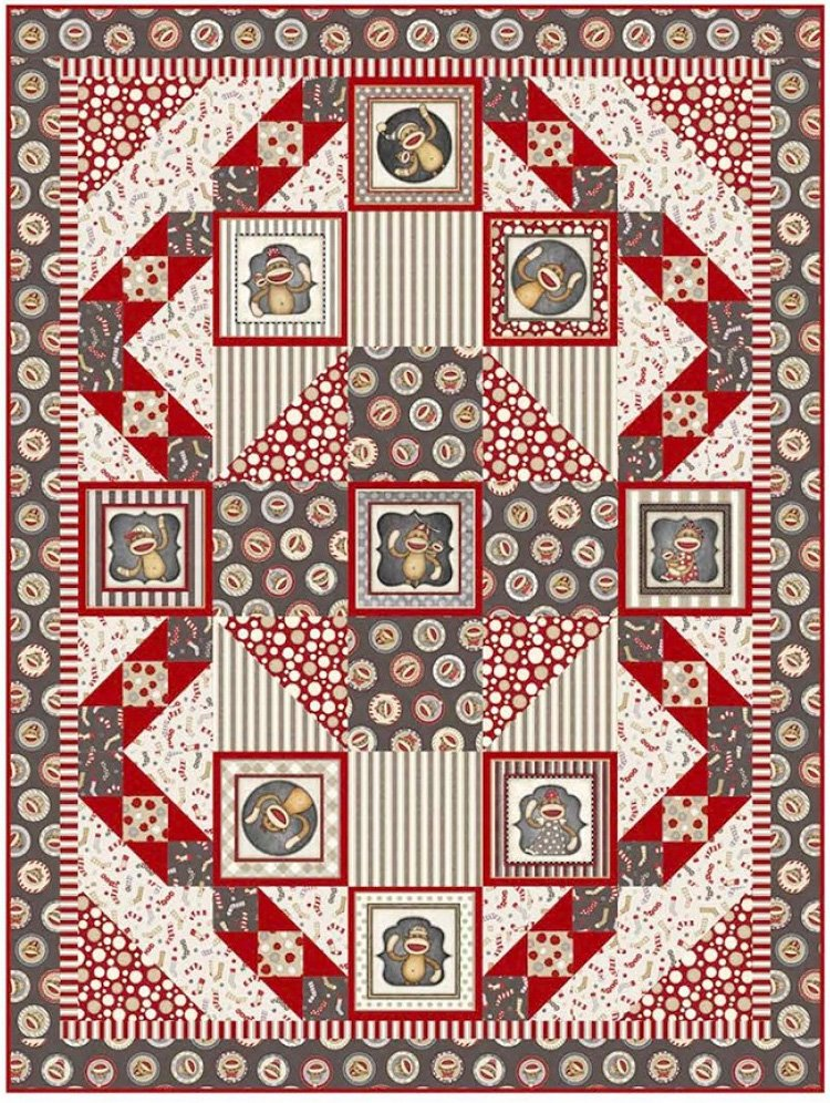 Monkey Around Quilt Pattern by Pine Tree Counry Quilts