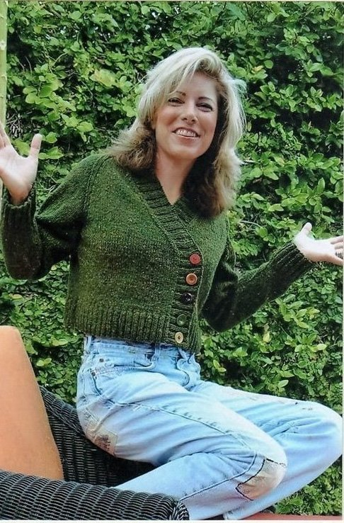 Montauk Women's Knitted Cardigan Pattern by Dolce Hand Knits