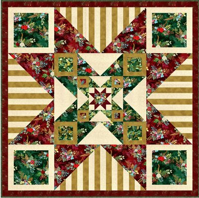 Morning Star Quilt Pattern by Gourmet Quilter