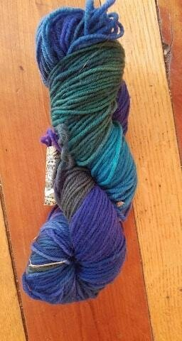 Riverwash Worsted Yarn Colorway Blue Bird by Mountain Colors