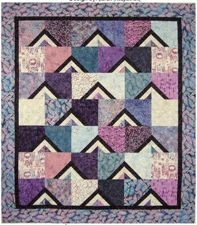 Mountain Range Quilt Pattern in 4 Sizes by Mountainpeek Creations
