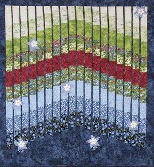 Columbine Garden Quilt Pattern by Mountainpeek Creations