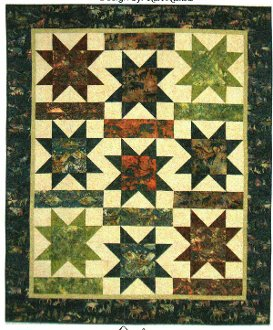 Falling Stars Quilt Pattern by Mountainpeek Creations