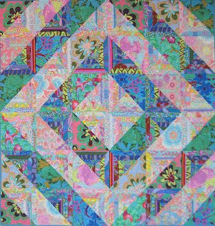 Fractured Diamonds Quilt Pattern in 3 Sizes by Mountainpeek Creations