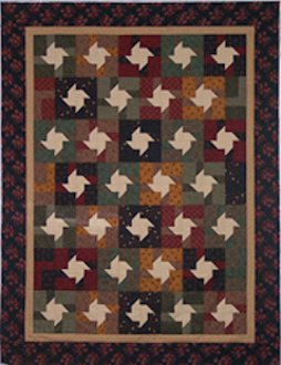 Spinning Fractions Quilt Pattern by Mountainpeek Creations