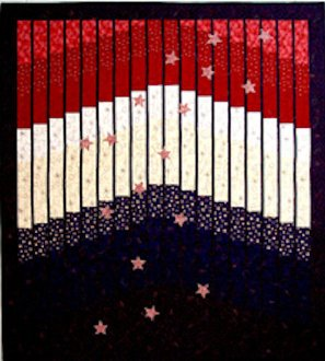 Stripes and Stars Quilt Pattern by Mountainpeek Creations