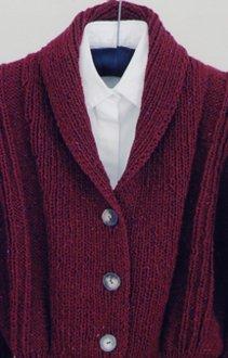 Bulky Weight Shawl Collar Cardigan Pattern by Mari Sweaters