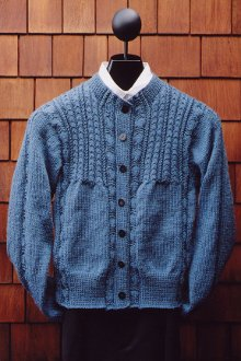 Cabled Yoke Cardigan Pattern by Mari Sweaters