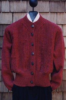 Chain Crew Cardigan Pattern by Mari Sweaters