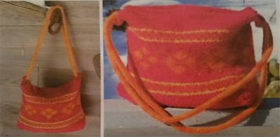 My Fair Isle Friend Knitted and Felted Purse Pattern 154 by Farmhouse Yarns