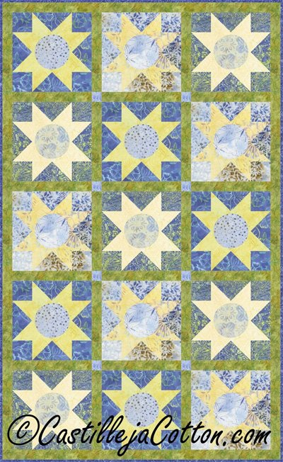Sunshine Stars Quilt Epattern by Castilleja Cotton