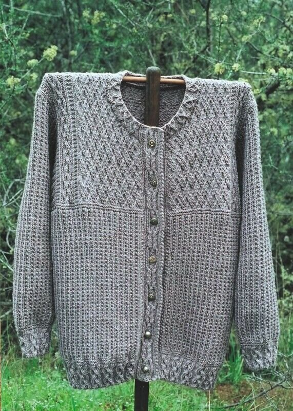 Natural Knitting Celtic Cardigan Knitting Pattern GU403 by Oat Couture