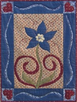 Benign Fusion Wallhanging Pattern by Nestlings by Robin