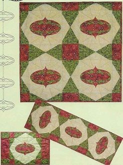Christmas Shimmer Wallhanging Pattern by Nestlings by Robin