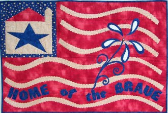 Home of the Brave Wallhanging/Table Center Pattern by Nestlings By Robin