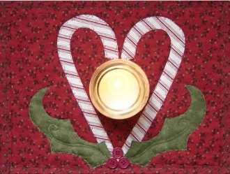 Sweetened Holly Candlemat Pattern by Nestlings by Robin