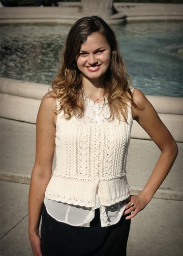 Nicole Knitted Tank Pattern by Chic Knits
