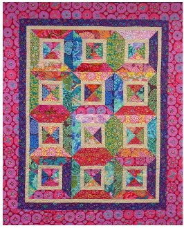 Ring Around The Rosies Quilt Pattern in 4 Sizes by Nellie J Designs