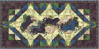 Horse Power Tablerunner Pattern by Northern Belle