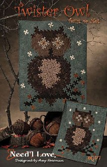 Twister Owl Quilt Pattern by Needl Love