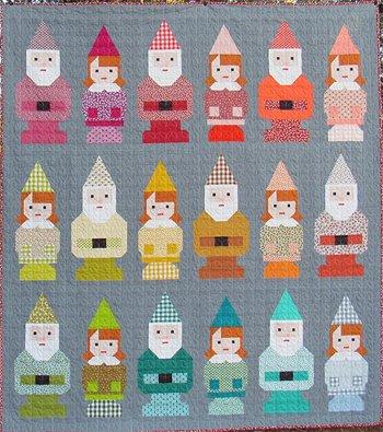 Norm & Nanette Gnome Quilt Pattern by Elizabeth Hartman